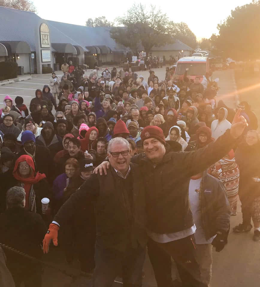 Group photo of participants of 2018 Turkey Giveaway