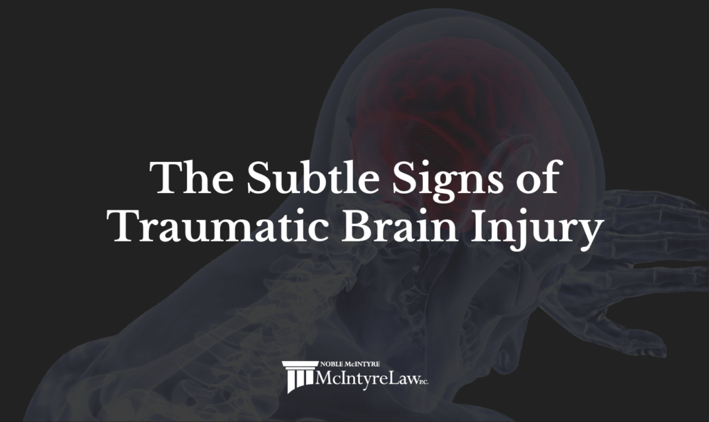 the subtle signs of a traumatic brain injury