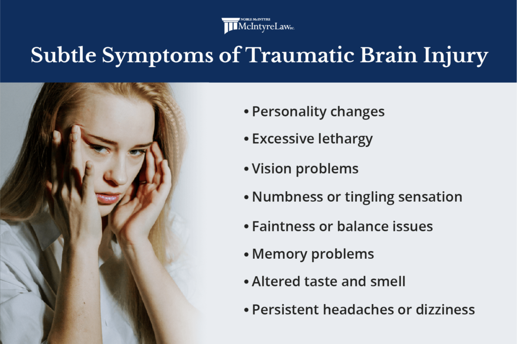 subtle signs of a traumatic brain injury