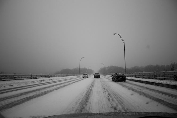 Snowy Oklahoma Roads