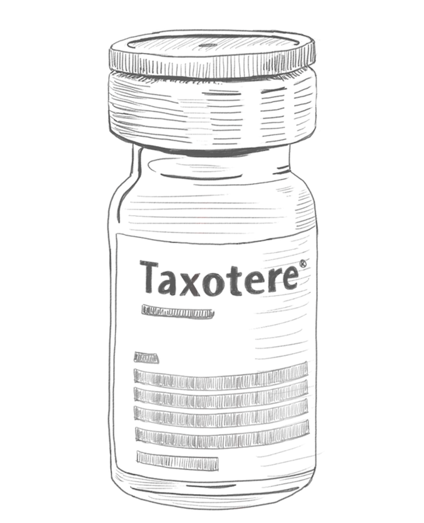 Taxotere Bottle Illustration