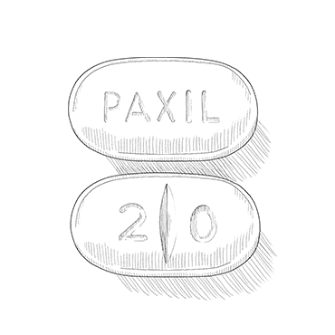 Illustration of SSRI pill