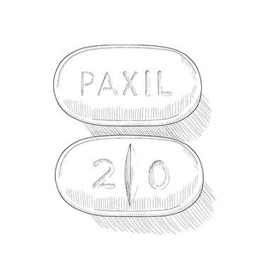 Illustration of SSRI pill