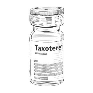 Illustration of Taxotere bottle