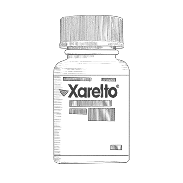 Illustration of Xarelto Bottle