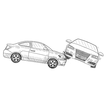 Illustration of a car accident