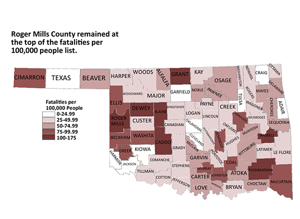 2011 Oklahoma Fatalities Per Capita