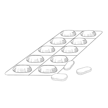 Illustration of Elmiron pills