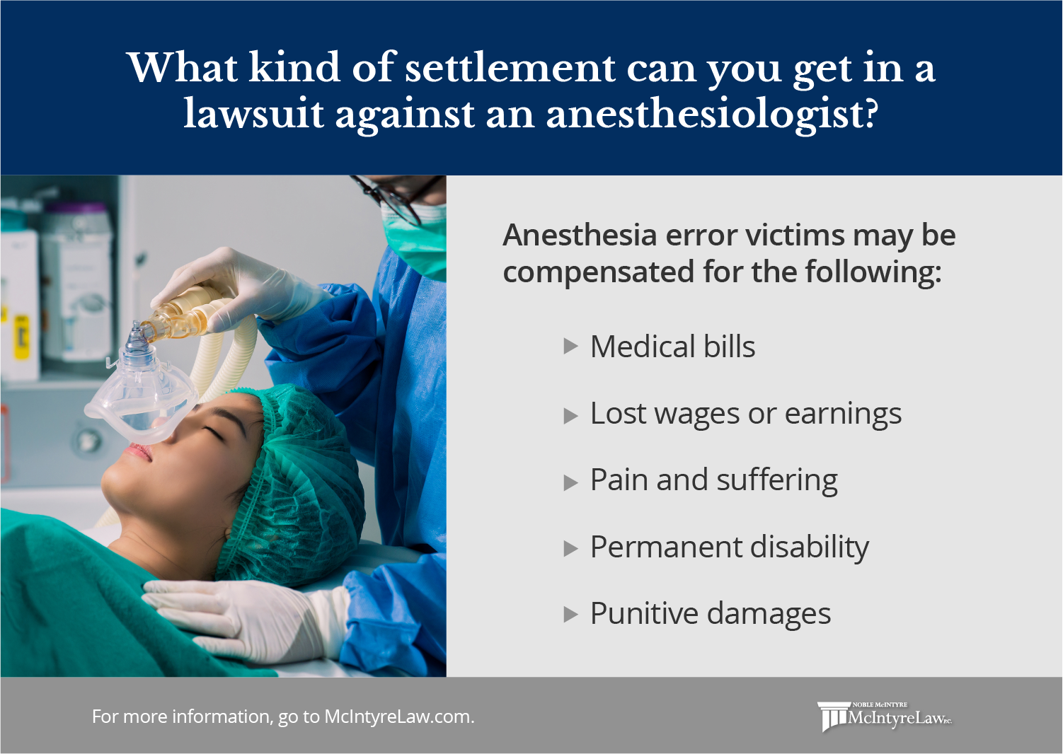 what kind of compensation can you get in a lawsuit against an anesthesiologist