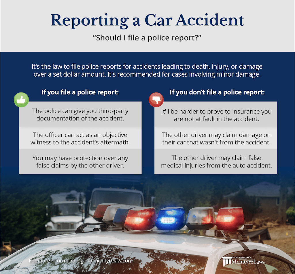 reporting a car accident to the police