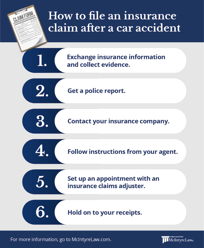how to file an insurance claim after an accident