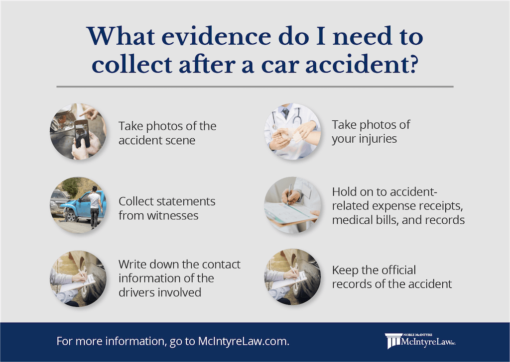 what evidence so i need to collect after a car accident