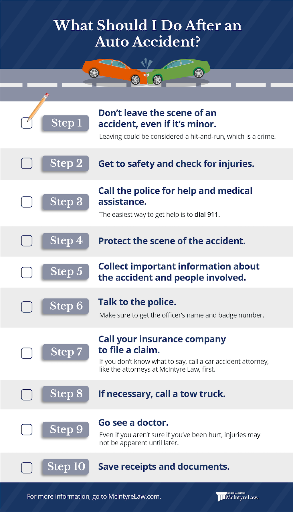 what should I do after an auto accident