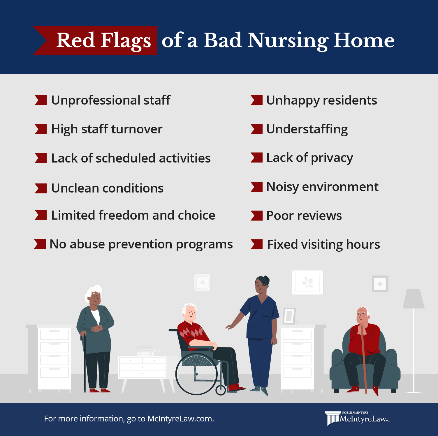 Red flags of nursing home abuse